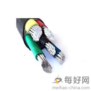 阻燃铜芯导体聚氯乙烯绝缘及聚氯乙烯护套电力电缆(ZR-VV;0.6/1kV;3×6+2×4mm2)